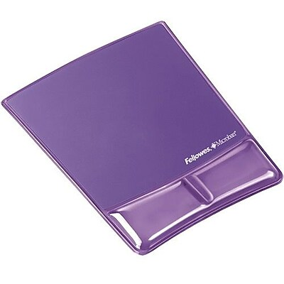 Fellowes® Polyurethane/Gel Wrist Support Mouse Pad, Purple (FEL9183501)