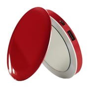 Hyper Products Pearl Lithium Polymer Compact Mirror/Battery Pack for iPhone, Red (PL3000)