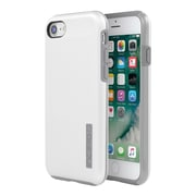 Incipio® DualPro SHINE Dual Layer Protective Case for iPhone 7, White/Gray (IPH1466WGY)