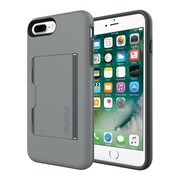 Incipio® STOWAWAY Credit Card Case with Integrated Stand for iPhone 7 Plus, Gray/Charcoal (IPH1503GYC)