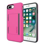 Incipio® STOWAWAY Credit Card Case with Integrated Stand for iPhone 7 Plus, Pink/Charcoal (IPH1503PKC)
