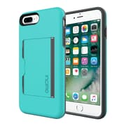 Incipio® STOWAWAY Credit Card Case with Integrated Stand for iPhone 7 Plus, Turquoise/Charcoal (IPH1503TQC)