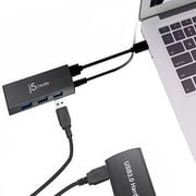 j5 Create® USB 3.0 Mini Hub, Black (JUH340)