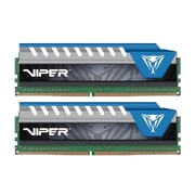 Patriot™ Viper Elite 16GB (2 x 8GB) DDR4 SDRAM UDIMM DDR4-3000/PC4-24000 Memory Module, Black/Blue (PVE416G300C6KBL)