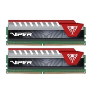 Patriot™ Viper Elite 16GB (2 x 8GB) DDR4 SDRAM UDIMM DDR4-2400/PC4-19200 Memory Module, Black/Red (PVE416G240C5KRD)
