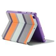 "speck® StyleFolio 71978C230 Faux Leather Case for 7.9"" iPad mini 1/2/3, Cabana Stripe/Seaglass Blue/Vivid Purple"