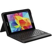 "Zagg® GTEBSFBB0 Messenger Fabric Folio Cover/Keyboard for 9.7"" Galaxy Tab E, Black"
