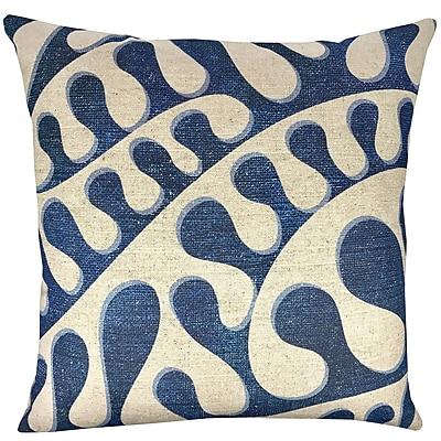 TheWatsonShop Swirling Shibori Cotton Throw Pillow
