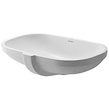 Duravit D-Code Oval Undermount Bathroom Sink w/ Overflow