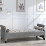 Rosdorf Park Deckard Upholstered Bedroom Bench; Opal Grey