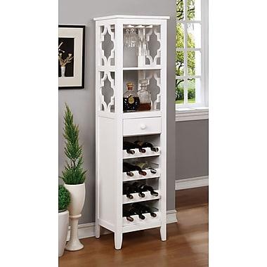 A&J Homes Studio Akaska 12 Bottle Floor Wine Cabinet