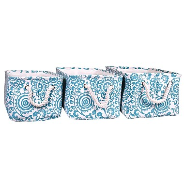 Jia Home Polyester 3 Piece Basket Set