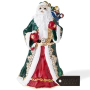 MatashiCrystal Hand Painted Gift Bearing Santa Ornament