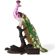 MatashiCrystal Hand Painted Regal Peacock on a Perch Ornament
