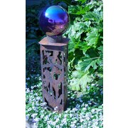 ZGardenParty Iris Gazing Ball Pedestal