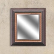 Y Decor Warm Brown/Bronze Reflection Beveled Wall Mirror