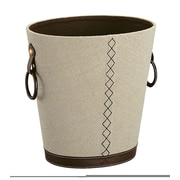 OIA Oval Faux leather Waste Basket
