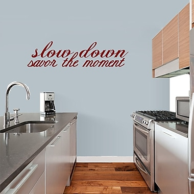 SweetumsWallDecals 'Savor the Moment' Wall Decal; Cranberry