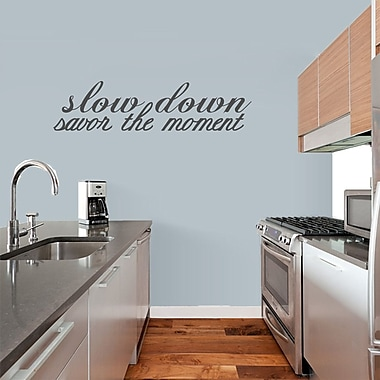SweetumsWallDecals 'Savor the Moment' Wall Decal; Dark Gray
