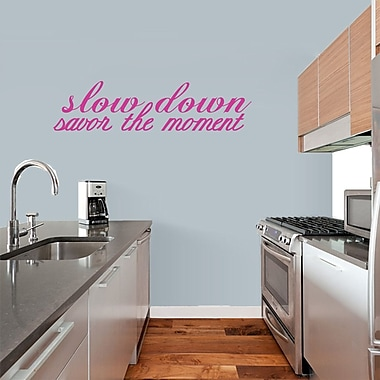 SweetumsWallDecals 'Savor the Moment' Wall Decal; Hot Pink