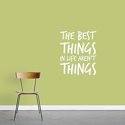 SweetumsWallDecals 'The Best Things Aren't Things' Wall Decal; White