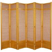 World Menagerie 83.5'' x 86'' Clarke Shoji 6 Panel Room Divider; Honey