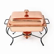 Star Home Copper 4 Qt Rectangle Plated Chafing Dish