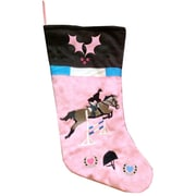 Zoomie Kids Show Jumping Equestrian Christmas Stocking