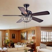 Warehouse of Tiffany Hannele 3-Light Under Cabinet Bowl Fan Light Kit