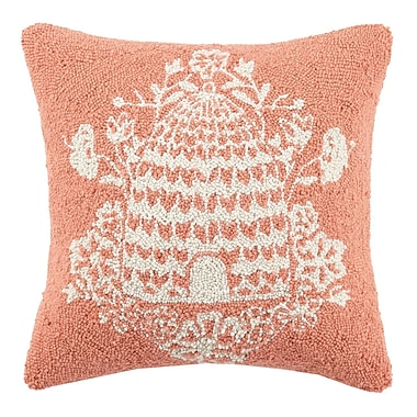 Bonnie Christine Beehive Hook Wool Throw Pillow