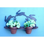 ZGardenParty Bunny Steel Pot Planter
