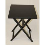 eHemco Folding TV Tray Table; Black