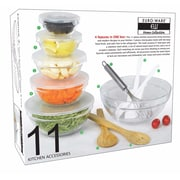 Euro-Ware Glass Kitchen Accessory 11-Piece Food Storage Container Set