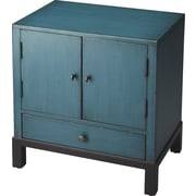 Butler Courtland 1 Drawer Cabinet; Distressed Blue