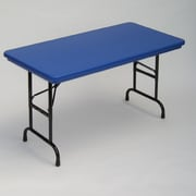 Correll 48 inch Rectangular Folding Table; Blue by