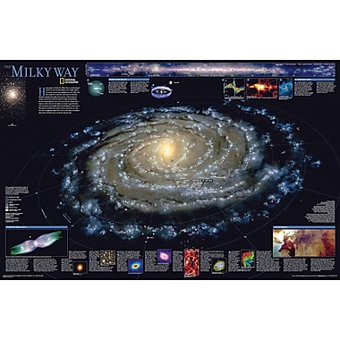 National Geographic Maps The Milky Way Poster Map; Laminated (20'' x 31'')