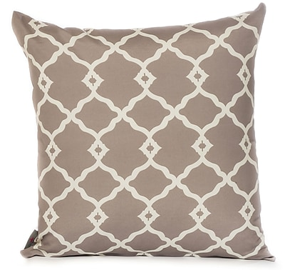 HRH Designs Outdoor Throw Pillow; Gray