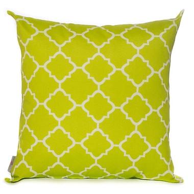 HRH Designs Outdoor Throw Pillow; Lime Green