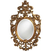 Astoria Grand Oval Framed Wall Mirror; Museum Gold Leaf