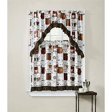 Ben and Jonah Cappuccino Kitchen Curtains