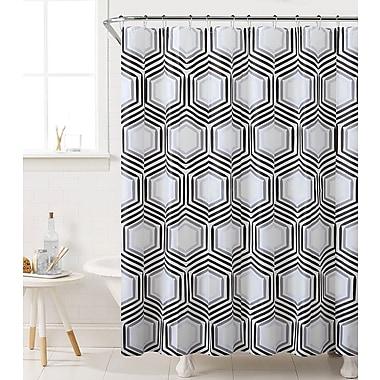 Varick Gallery Fort Washington Honeycomb Highway Shower Curtain