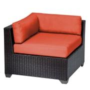 TK Classics Belle Corner Chair w/ Cushions; Tangerine
