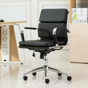 Roundhill Furniture Modica Contemporary Mid-Back Office Desk Chair; Black