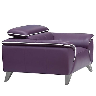 NociDesign Purple Leather Club Chair