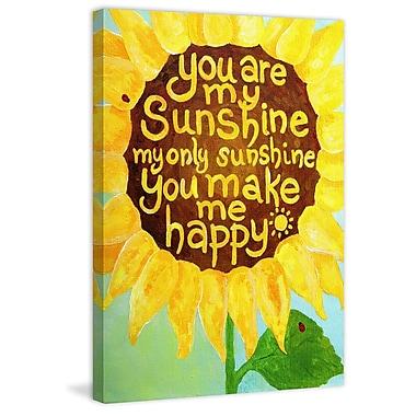 Marmont Hill 'Sunshine Sunflower II' by Nicola Joyner Painting Print Canvas Art