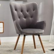 Roundhill Furniture Doarnin Arm chair; Gray