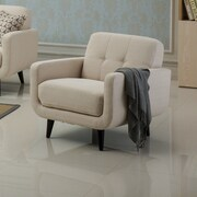 Roundhill Furniture Modibella Club Chair; Tan