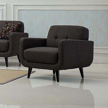 Roundhill Furniture Modibella Club Chair; Taupe