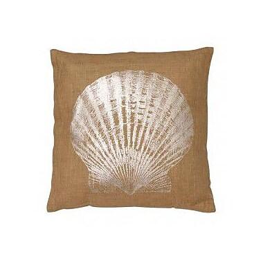 LightLiving Seashell Jute Throw Pillow
