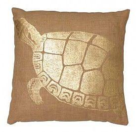 LightLiving Turtle Jute Throw Pillow